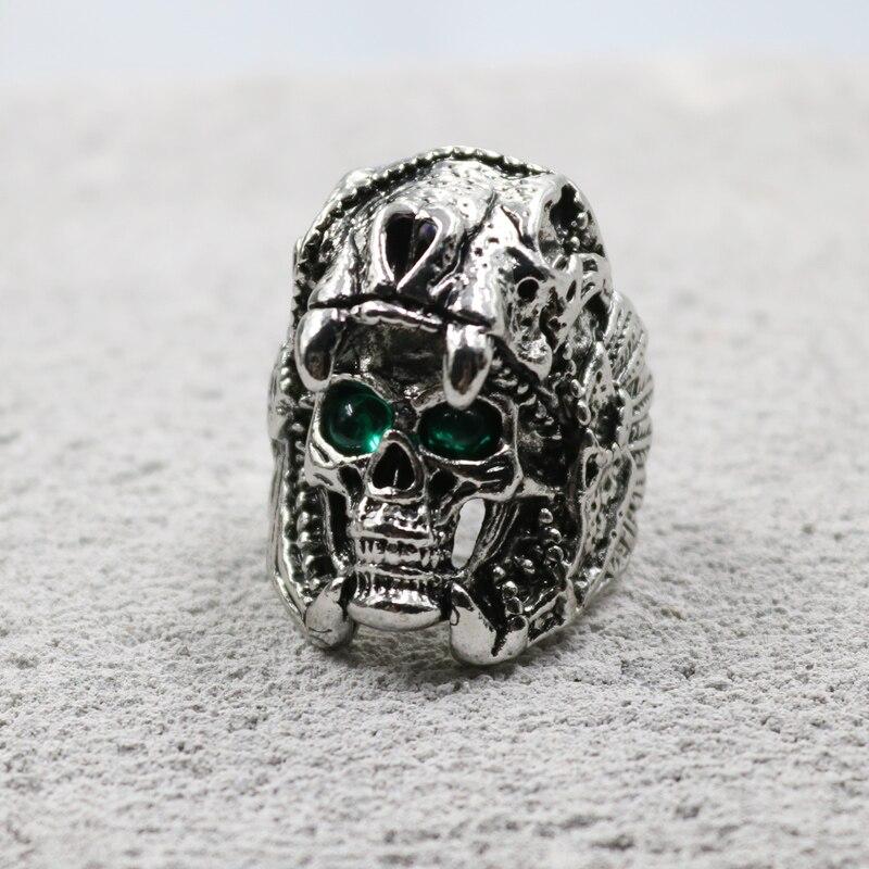 Anillo De Acero Inoxidable Titanio Predator ancianos Heavy Metal Punk Joyas de película