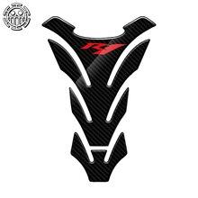R1 Aufkleber Motorrad Tank Pad Protector Aufkleber Fall für Yamaha YZF R1 r1 Tankpad 3D Carbon Look