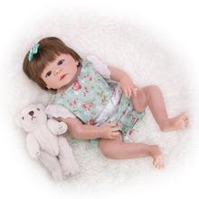 цена на Reborn Doll Real baby skin color Bebe reborn baby toy For Girl silicone Bonecas Newborn Princess Babies new Lovely Birthday Gift