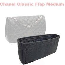 Se encaixa clássico aba organizador de inserção de saco médio-3mm de feltro premium (artesanal/20 cores)