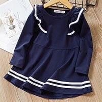 Hbb221b347a9b45088534b735ea942e872 Bear Leader Girls Dress 2019 New Autumn Casual Ruffles A-Line Striped Full Sleeve Kids Dress For 3T-7T