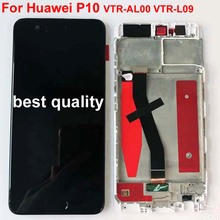 For HUAWEI P10 Display LCD Touch Screen with Frame Original for HUAWEI P10 LCD Display with Fingerprint 5.1 inch VTR L09 L10 L29