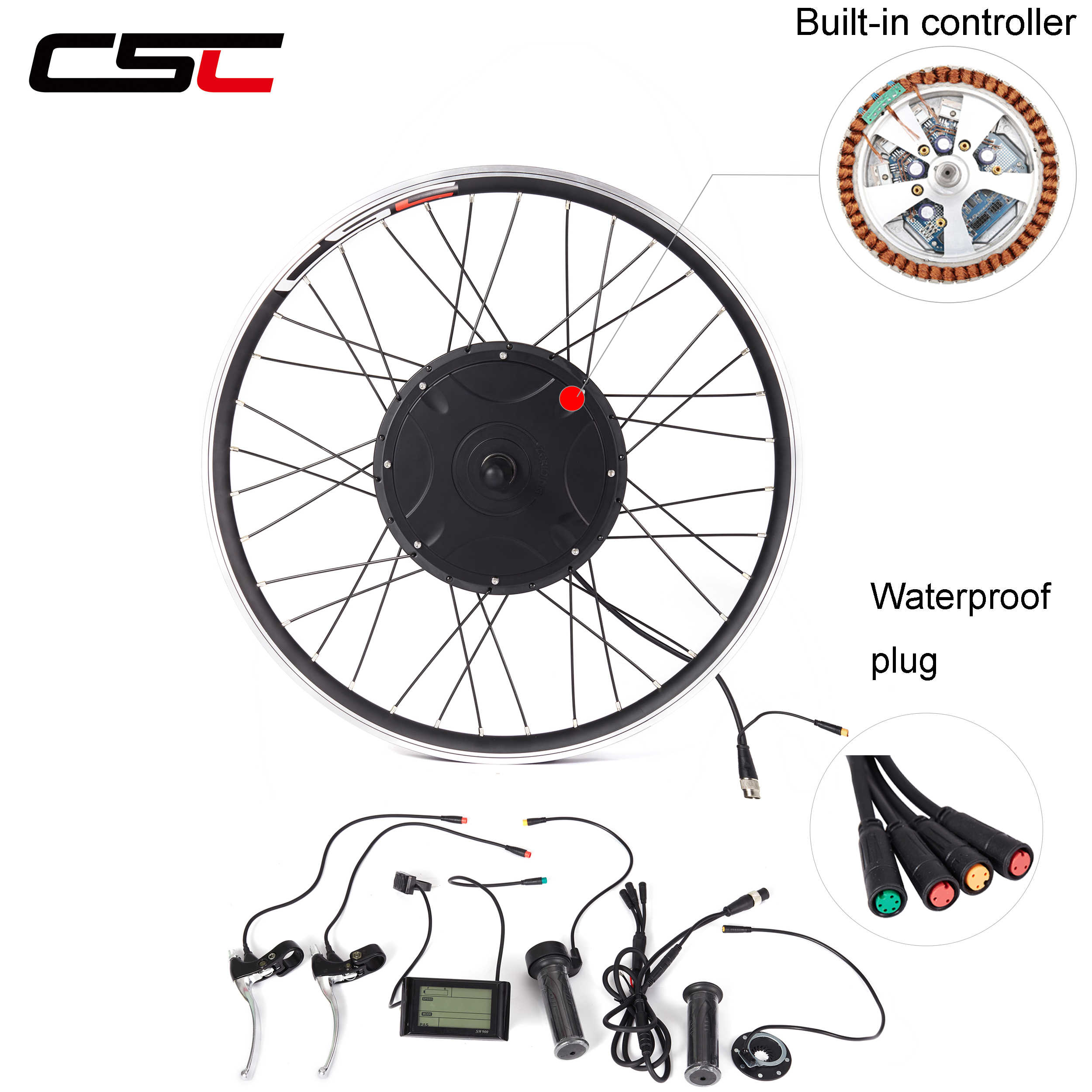 Electric Bike Conversion Kit Waterproof Built In Controller