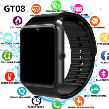 GT08 Sim Smart Watch Smartwatch Men Women 2020 Woman Sport Fitness Watch Smart Tracker For Android TF Card In Stock Dropshipping 1