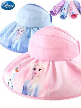 Oryginalny Disney czapka dziecięca krem przeciwsłoneczny lato cienki stylowy duży rondo parasolka 3-8 letnie dziewczyny pusty kapelusz słońce w stylu zagranicznym tanie i dobre opinie COTTON POLIESTER Kapelusze przeciwsłoneczne Nowość W stylu rysunkowym Children 3-8 Years Old Princess Spring 2020 Hollow Cap