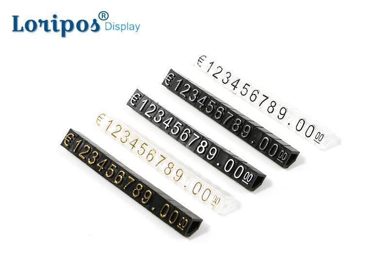 Lot 14 Euro Dollar Mini Price Numeral Cubes, Blocks Stick, Combined Number Digits Tag Sign POP Pricing Display Stand Frame