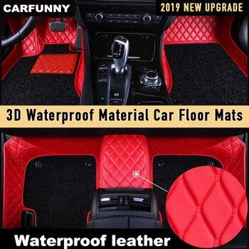 CARFUNNY Waterproof Leather car floor mats for FordEcoSportFocusEscapeEscortExplorer   Custom Automotive Carpet