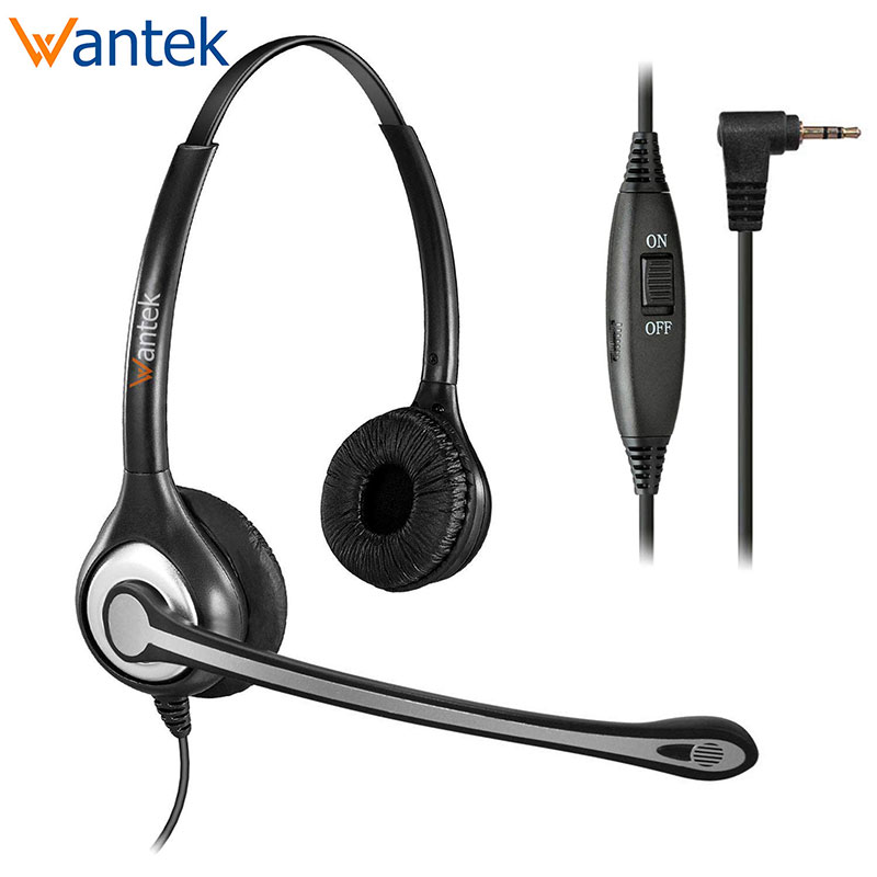 Wantek Telephone Headset 2 5mm Jack Noise Cancelling Mic Volume Mute Controls Phone Headset For Panasonic Cordless Dect Phones Headphone Headset Aliexpress