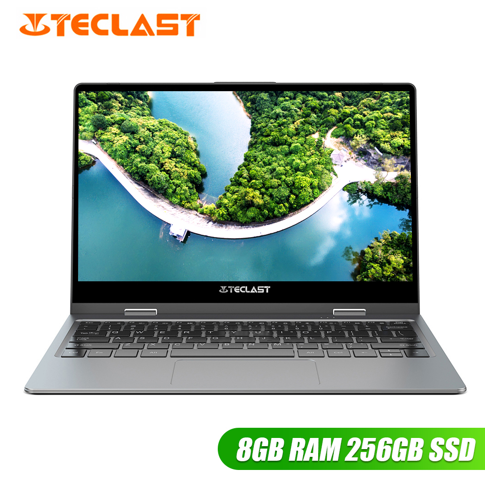 Teclast F5R Laptop 11.6'' IPS Windows 10 OS Intel APLLO LAKE N3450 Quad Core 8GB RAM 256GB SSD 360° Rotation Touch Screen HDMI