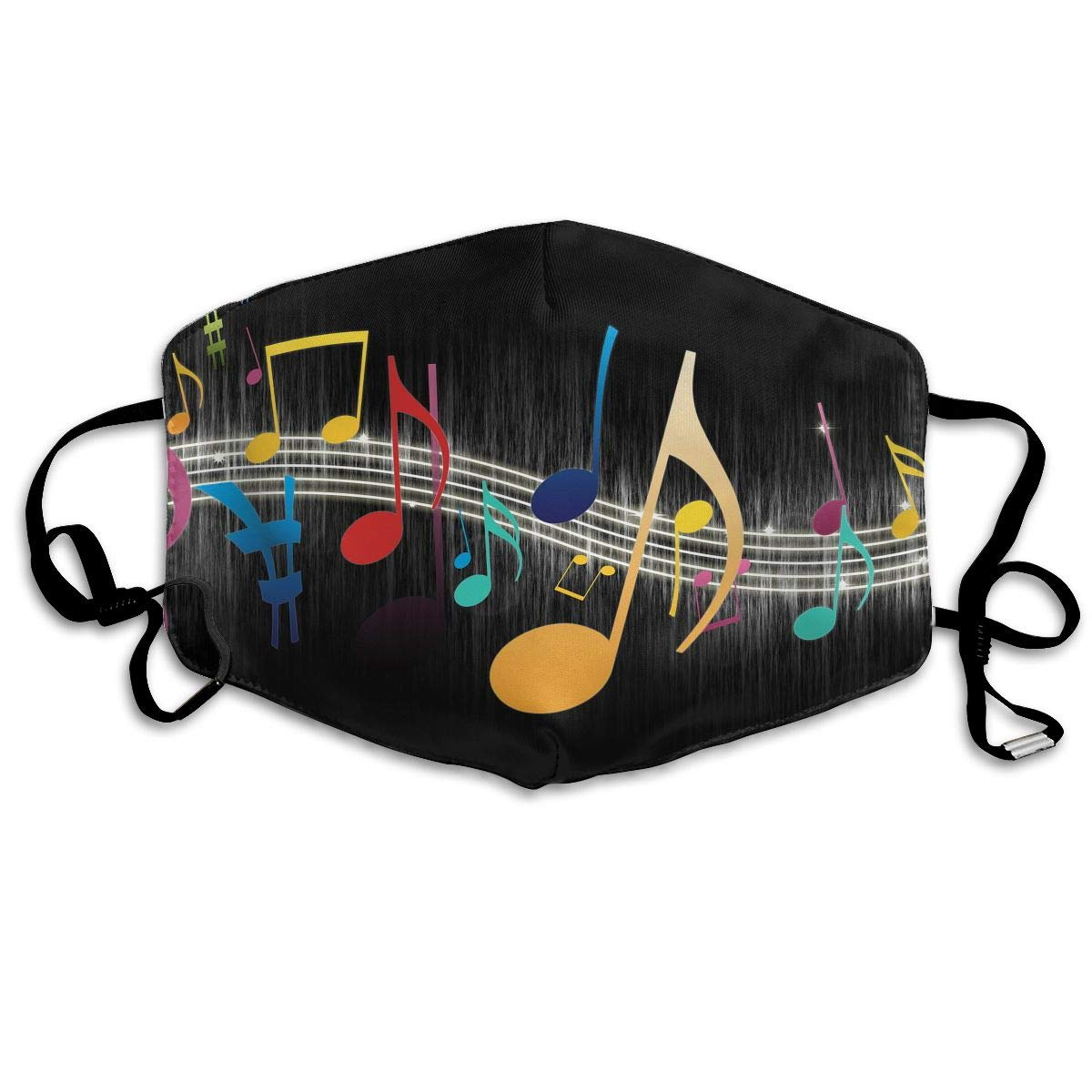 Unisex Print Mouth Mask - Cute Musical Notes Art Polyester Anti-dust Mouth-Muffle - Fashion Washed Reusable Face Masks For