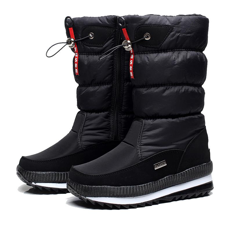 Women Snow Boots Platform Winter Boots Thick Plush Waterproof Non slip Boots Fashion Women Winter Shoes Warm Fur Botas mujer