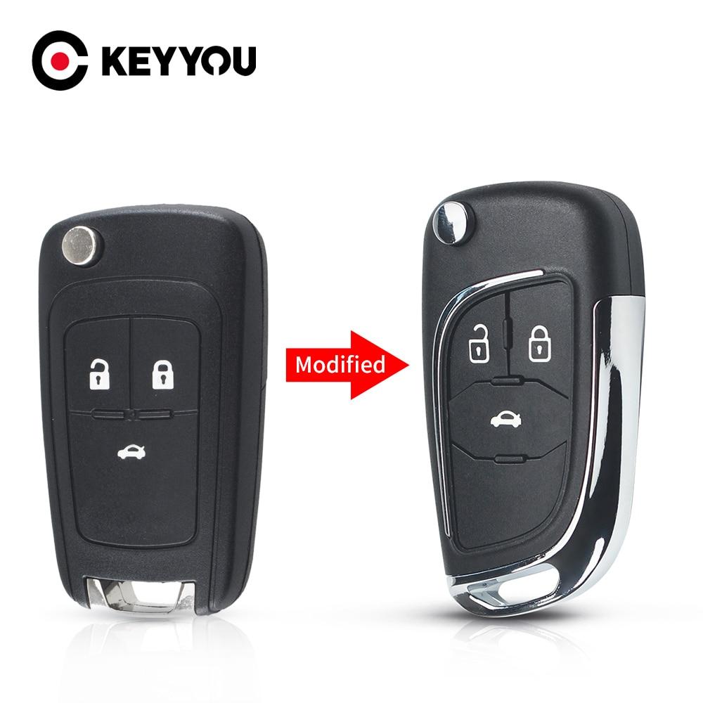 Coque de clé télécommande repliable, pour Chevrolet Cruze Epica Lova Camaro pour Opel Vauxhall Insignia Astra Mokka pour Buick