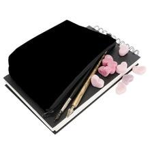 Women Solid Black Cosmetic Cases Alphabet Makeup Bags Portab