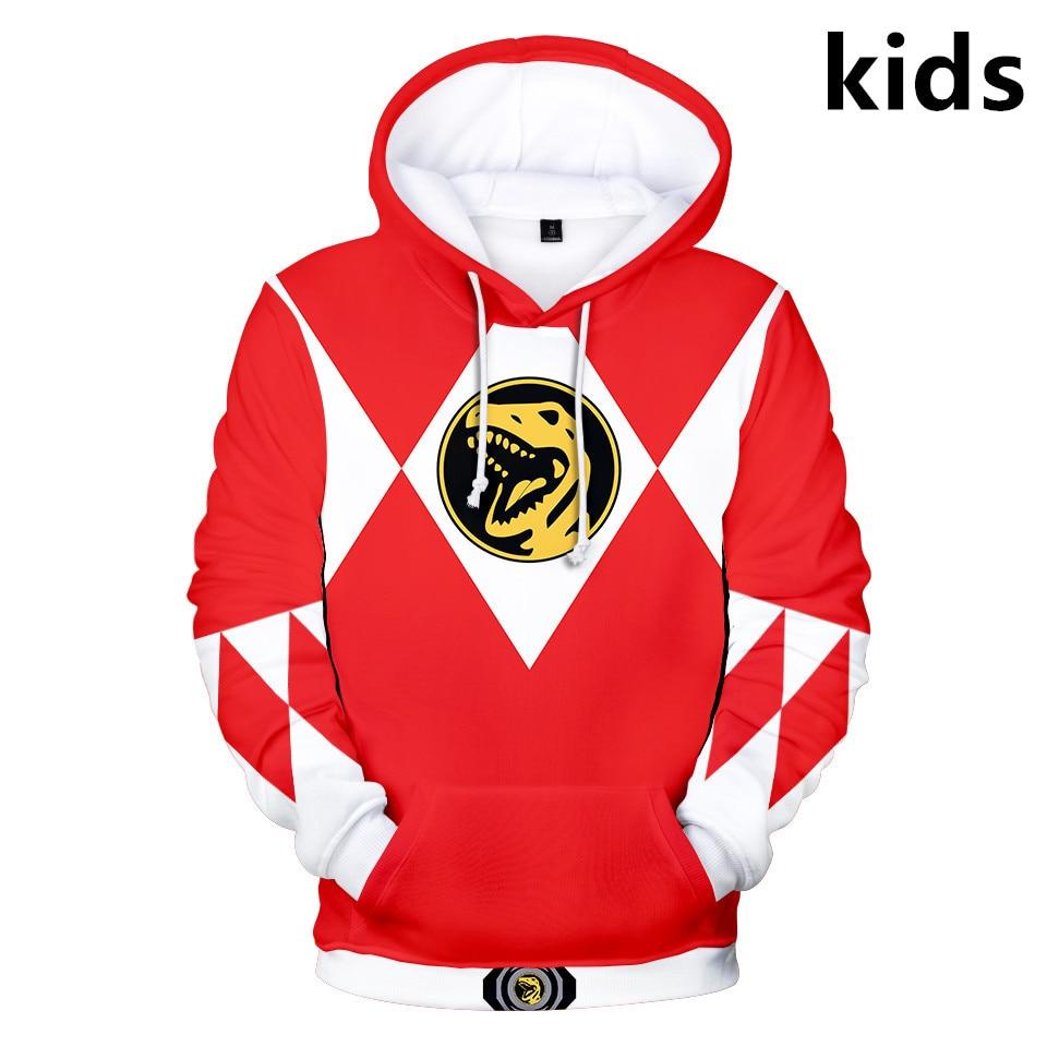 3 To 14 Years Kids Hoodies Power Rangers 3d Printed Hoodie Sweatshirt Boys Girls Cosplay Cartoon Jacket Coat Children Clothes