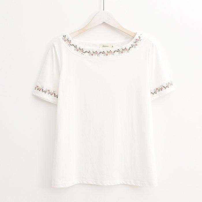 Женская футболка с круглым вырезом и коротким рукавом, новинка 2018   - AliExpress