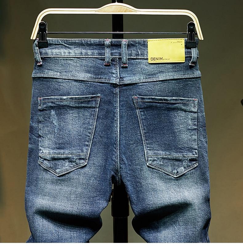 KSTUN Slim Fit Jeans Men Stretch Blue Fashion Mens Brand Jeans Casual Denim Pants Men's Clothing Male Long Trousers Wholesale 14
