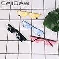 Солнечные очки CellDeal для мужчин и женщин, модные мозаичные солнцезащитные аксессуары с 8 битными пиксельными наклейками, с надписью «Thug Life», ...