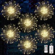 120/180leds twinkle starburst aa bateria firework luzes da corda para o festival de férias natal ao ar livre decoração interior luzes