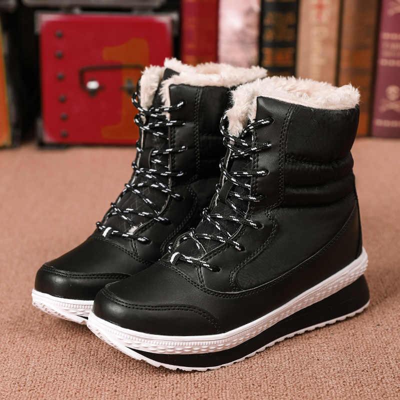 Vrouwen Laarzen Waterdichte Vrouwen Winter Schoenen Sneeuw Platform Warm Houden Vrouwelijke Winter Laarzen Met Dikke Bont botas mujer invierno 2019