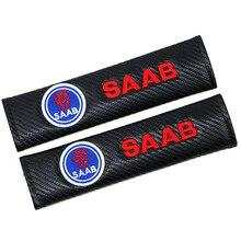 Подходит для Saab Carbon Fiber автомобильные плечевые защитные рукава Покрытие ремня безопасности внутренняя отделка автомобиля бутик