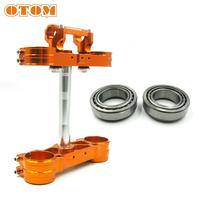 OTOM Motorcycle Triple Clamps Steering Stem And Clamp Riser Adaptor For KTM SX SXF EXC XCW HUSQVARNA FC TC FE TE 125 250 350 450