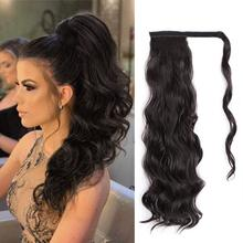 Clip-In Ponytail Human-Hair Body-Wave Full-Density Extensions Brazilian Wavy for Women