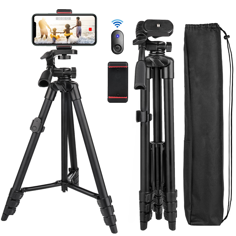 Cell-Phone-Tripod Pan-Head Selfie-Stick Remote-Panorama Travel Mobile Bluetooth Portable