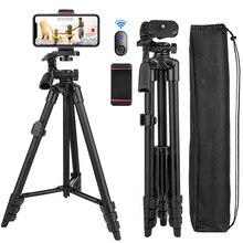 טלפון סלולרי חצובה 55 אינץ Selfie מקל Tripode עם Bluetooth מרחוק פנורמה פאן ראש נסיעות נייד חצובה Stand עבור נייד