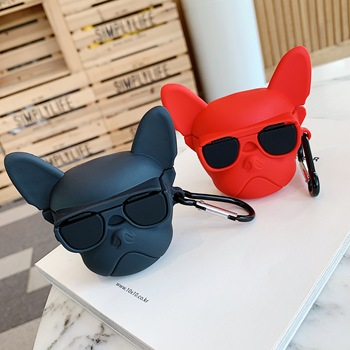 Funny Bulldog For Airpods Pro Case Cool Cartoon Silicone Bluetooth Earphone Protective cover for Air pods 2/3 Headset case box