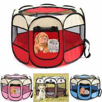 Chenils extérieurs portables clôtures pour animaux de compagnie tentes maisons pour petits grands chiens parc pliable intérieur chiot Cage chien caisse salle de livraison