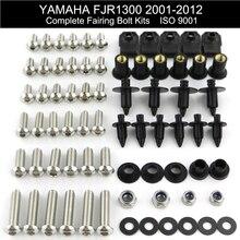 Для Yamaha FJR1300 2001 2002 2003 2004 2005 2006-2012 полный комплект обтекателей болтов полный комплект обтекателей гайки болты из нержавеющей стали
