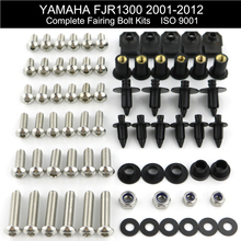 For Yamaha FJR1300 2001 2002 2003 2004 2005 2006-2012 Complete Fairing Bolts Kit Full Fairing Kit Nuts Bolts Stainless Steel