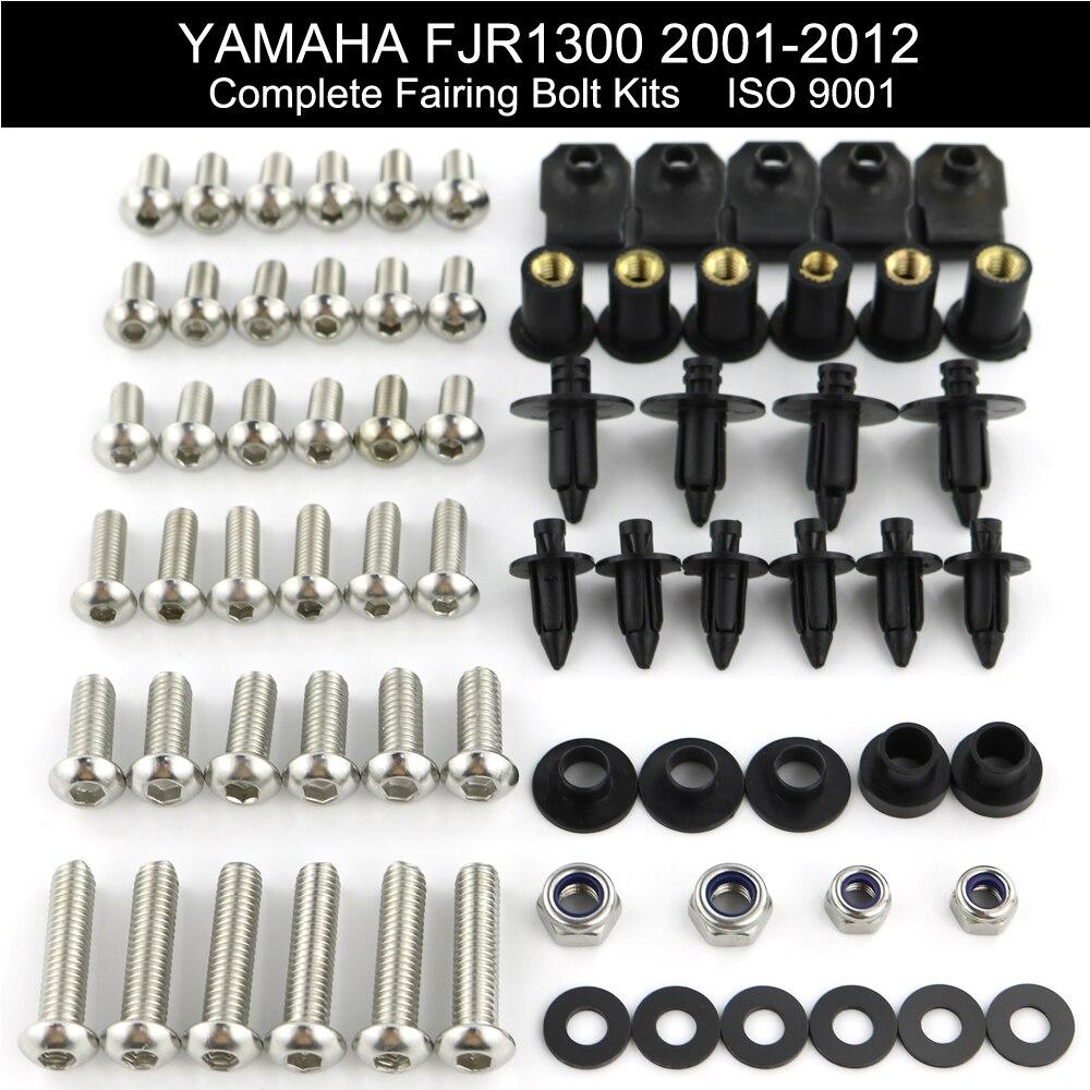 Complete Fairing Bolt Kit Body Screws for Yamaha FJR1300 2003 2004 2005
