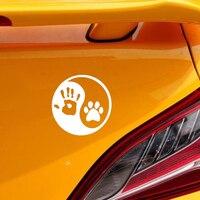 Dog Hand Car Sticker 3