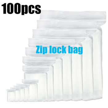 100pcs/lot Clear Heavy-Duty Thick Zip Lock jewelry Gift Package Storage Bag Ziplock Plastic Reclosable Poly Bag Thickness 0.12mm image