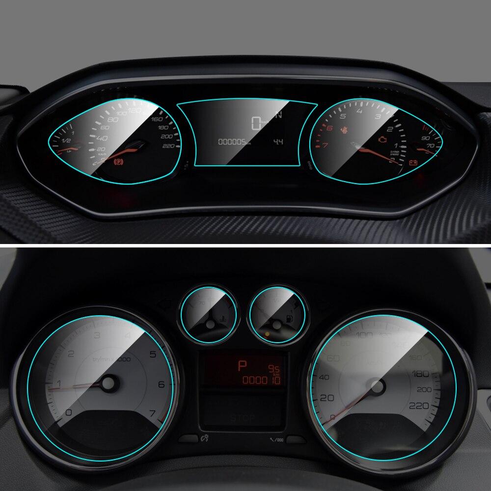 Car Instrument Panel Screen Protector TPU Film For Peugeot 308 Interior Dashboard Membrane Protective Film Auto Car Accessories