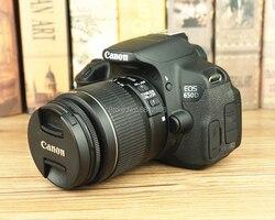 95% новая б/у камера Canon, объектив для камеры 18-55 мм F/3,5-5,6 IS II и зеркальная камера Canon EOS 650D
