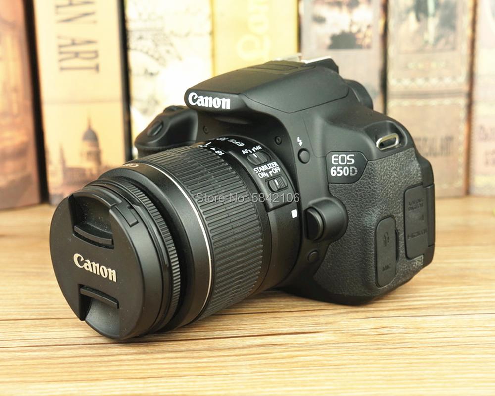 Новинка 95%, бывший в употреблении объектив Canon EF-S 18-55 мм F/3,5-5,6 IS II и DSLR-камера Canon EOS 650D
