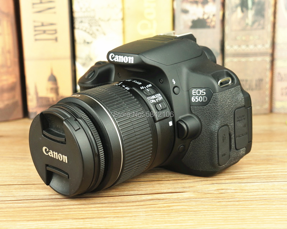 95% Новый б/у объектив камеры Canon EF-S 18-55 мм F/3,5-5,6 IS II и DSLR камеры Canon EOS 650D