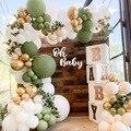 Авокадо зеленых воздушных шаров арки набор посуды для дня рождения вечерние годовщина свадьбы задние фоны газон, Свадьба День защиты детей ...