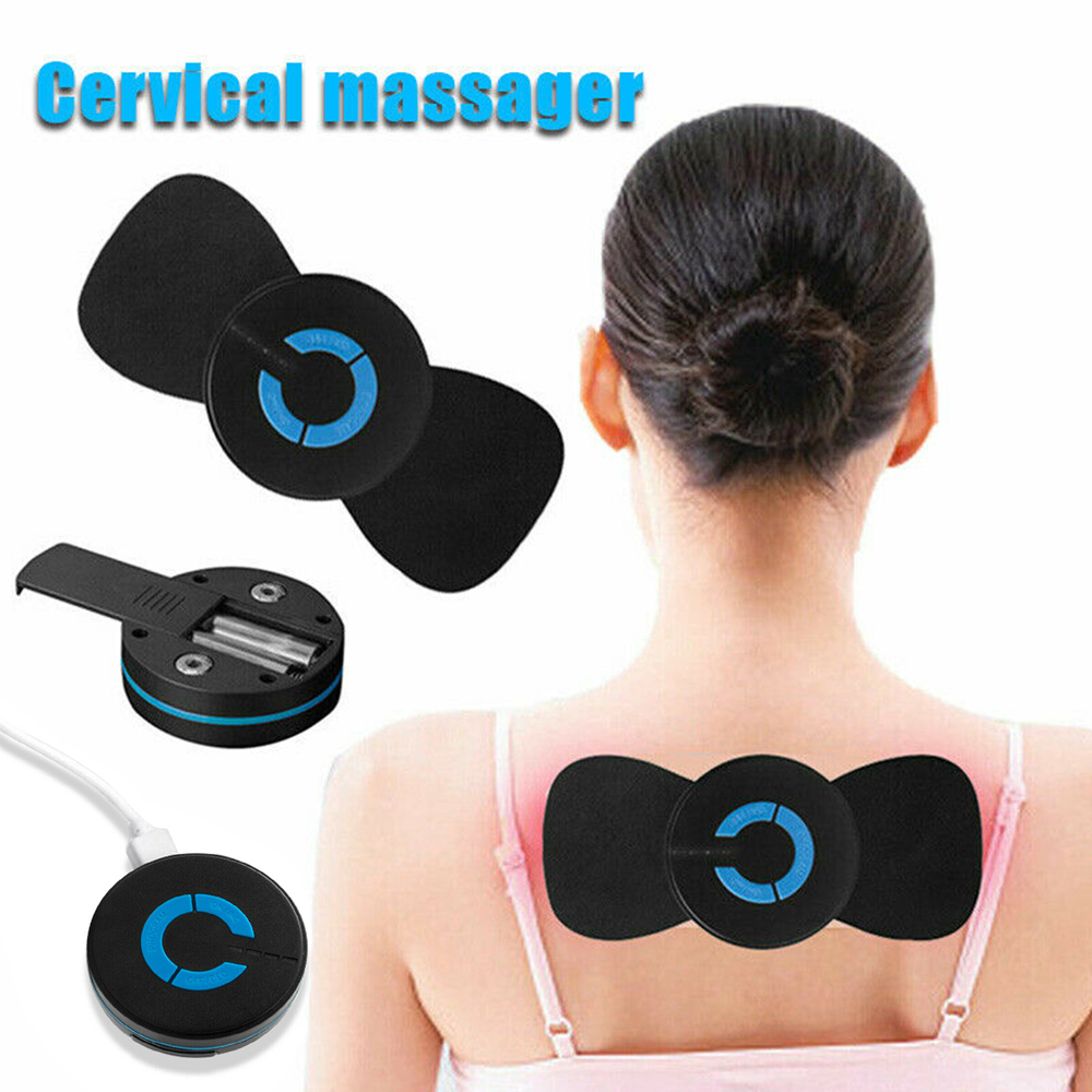 Mini Portable USB Charging Battery Electric Smart Cervical Vertebra Treatment Massager Muscle Relaxation Health Body Massage