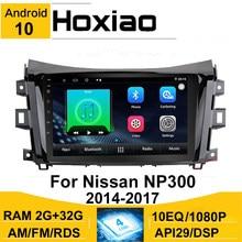 Автомагнитола Hoxiao, 2 Din, Android 10, 8,1, для Nissan NAVARA NP300, NP 300, 2014, 2015, 2016, 2017, 9 дюймов, RDS, автомобильный мультимедийный плеер