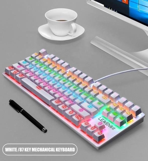 Newest Single Backlit Mechanical keyboard 87keys Mechanical gaming keyboard 4