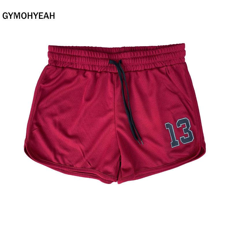 GYMOHYEAH Summer Beach Shorts Mens Fitness Bodybuilding Breathable Quick Drying Short Gyms  Casual Joggers Men Shorts