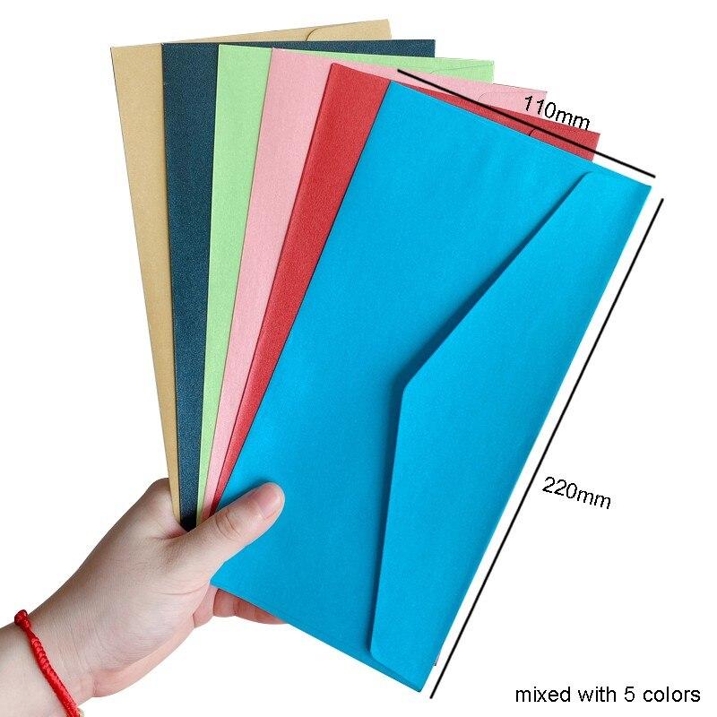 5 шт./лот, набор конвертов карамельных цветов в винтажном стиле, набор многофункциональных конвертов для самостоятельного изготовления, раз...
