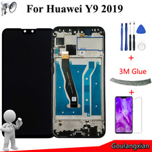 "6,5 ""AAA Original con marco LCD para Huawei Y9 2019 pantalla LCD digitalizador de pantalla táctil para Y9 2019 LCD JKM LX1 JKM LX2 JKM LX3"