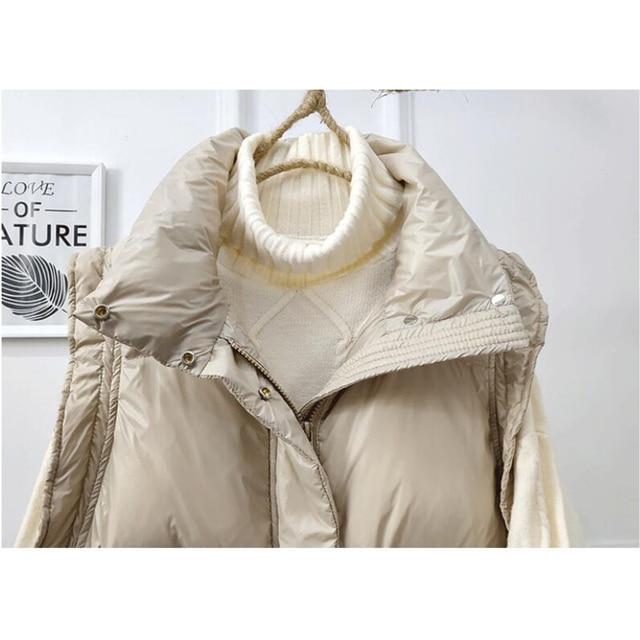 SEDUTMO 2020 Winter Duck Down Vest Women Ultra Light Oversize Waistcoat Autumn Casual  Short Pocket Jacket Slim Parkas ED1317 5