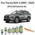 8 шт. белые светодиодные с Canbus салона комплект ламп для Toyota Rav4 для Toyota Previa RAV 4 RAV-4 2005 - 2017 2018 2020 светодиодные фонари для салона
