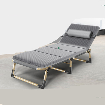 Folding bed, single bed, family nap bed, simple office nap, escort marching bed, multifunctional portable reclining chair