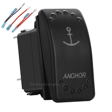 Anker Blauwe Led 5Pin Op/Off 20A/12V 10A/24V Spst Rocker Switch + Jumper draden Set Voor Auto Boot Vrachtwagens Water Proof